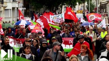 Manifestation contre la réforme du code du travail à Strasbourg