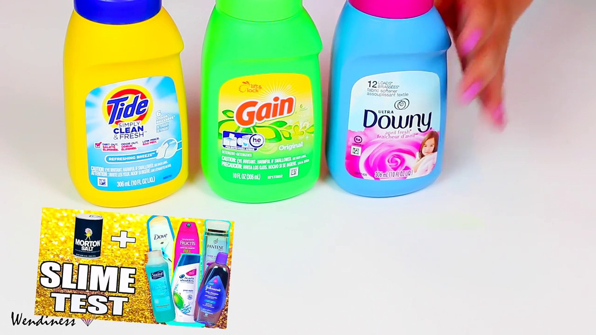 Laundry Detergent Slime Test With Tide Gain Fabric Softner Slime With Downy Suavitel Video Dailymotion