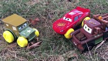 Disney Pixar Cars Lightning McQueen Learns How To Swim Sarge Mater Disney Cars Toys Stories For Kids