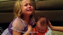 Little Cute Girl doesn't want her brother to grow up (O my god he is so cute) 1080p