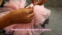 Como fazer saia de bailarina sem costura ❤ Cami Deoli
