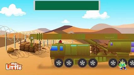 Armée enfants pour enfants Apprendre sous-marin les chars camions Véhicules vidéos |