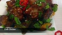 Chilli Chicken - Restaurant Style   Spicy Chilli Chicken  Dry Indo Chinese Chilli Chicken