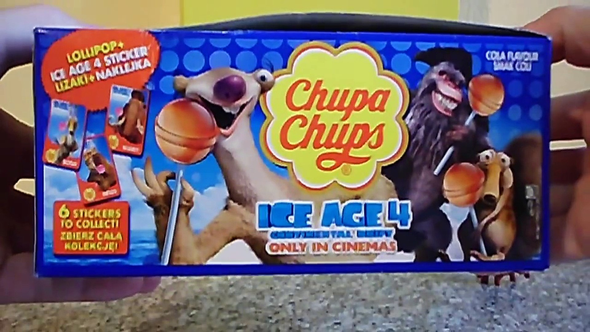 Ice Age 4 Continental Drift Movie Chupa Chups Lollipop With Stickers To Collect In Europe Video Dailymotion