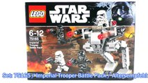 LEGO Star Wars Rogue One Set 75165 Imperial Trooper Battle Pack Unboxing & Review deutsch