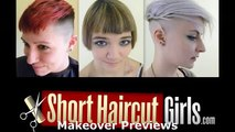 Womans Barber Fade Haircut www.ShortHaircutGirls.com Femme Fade Miley Cyrus Makeover