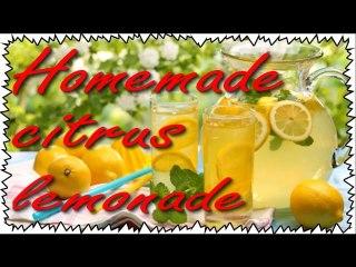 Homemade CITRUS LEMONADE for new year's table