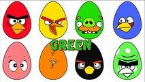 En colère des oiseaux Pâques des œufs coloration coloration Pâques des œufs avec aide Apprendre les couleurs avec un