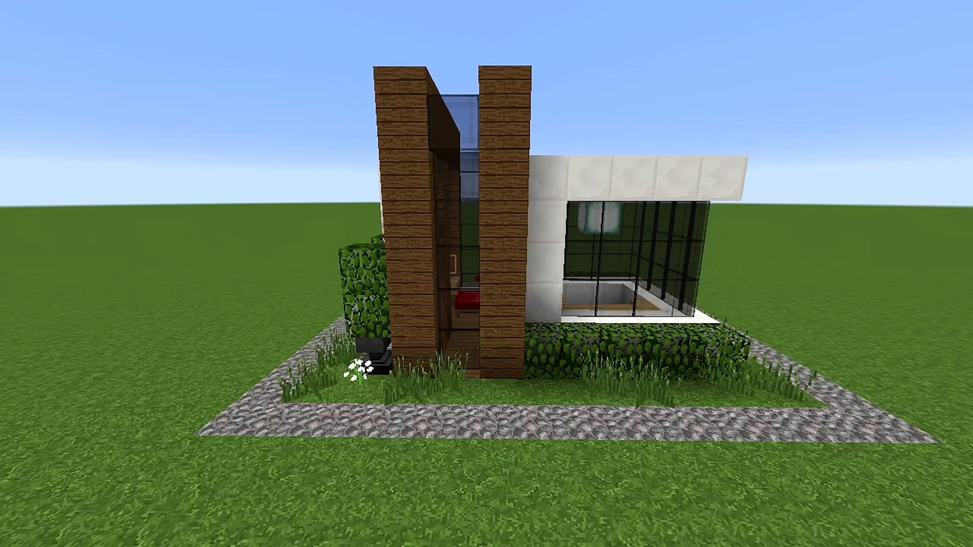 Minecraft How To Build A Small Modern House Tutorial Easy Survival Minecraft House Video Dailymotion