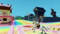 Minnie Mouse Nursery Rhymes - A Tisket A Tasket   Rides Disney Horses in Custom 3D Funpark