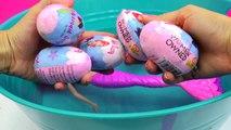Bath Bomb Fizzy Mermaid Surprise Eggs In Water with Barbie Dolls In Mini Pool