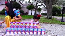 PopTart & Lucky Charms Challenge w/ Snow White, Baby, Mcdonalds happy meal, Poison Ivy, Hu