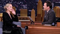 Jennifer Lawrence & Jimmy Fallon Battle It Out In An Ax-Throwing Contest | THR News
