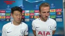 Harry Kane & Son - Post Match Interview - Tottenham vs Borussia Dortmund 3-1 - YouTube