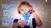 How To Make R2-D2 Phone Case and Pencil Case – DIY R2-D2 from Star Wars