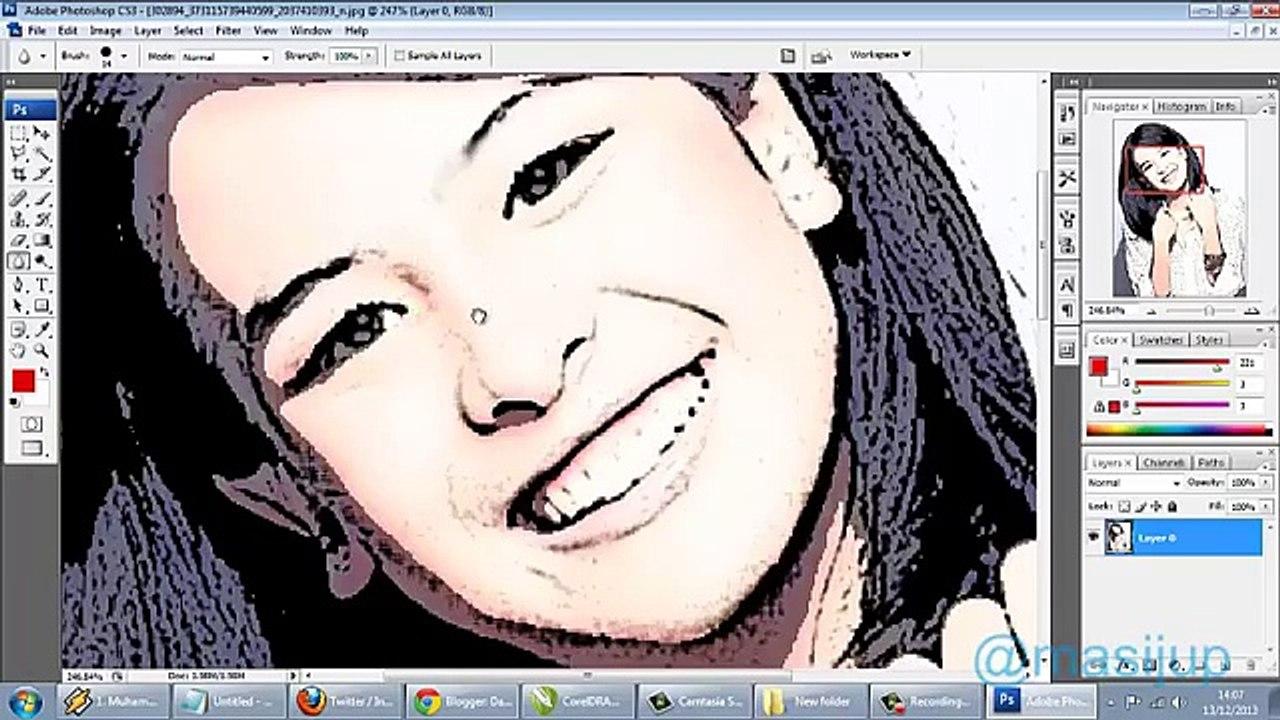 Membuat Foto Menjadi Kartun Dengan Filter Shop CS3