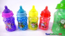Learn Colors Orbeez Baby Milk Bottles Surprise toys for Childrens DINO DINOSAUR Drinking Milk