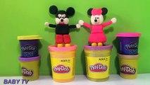 Souris jouer argile DOH mickey minnie souris ≧ ◔◡◔ ≦ moulé avec des jouets dargile