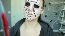 Freddy vs. Jason Makeup Tutorial (Clothes Painted On!)   Slasher Masher