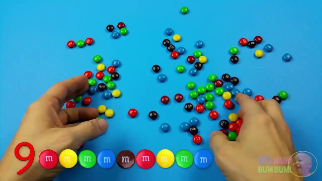 Learn to Count 1 to 10 with Surprise Eggs M&Ms - Numbers Counting and Candy for Children