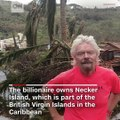 Billionaire Richard Branson shared footage of the damage to his home in the British Virgin Islands after Hurricane Irma