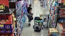 Video Shows Woman Stealing Elderly Woman`s Purse While She`s Grocery Shopping