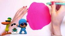 Play Doh Elly Shape DIY Pocoyo Play Dough Elly de Plastilina Пластилін Покојо Lets Go Pocoyo