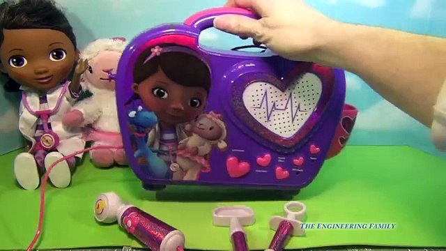 Disney Jr. DOC MCSTUFFINS Boom Box, Sound, Music Sing Song, HUGE Doll Set, Pet Toys Carrie