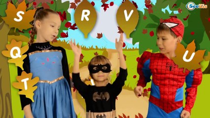 Learn ABC Song with Batgirl & Spiderman | Nursery Rhymes for kids