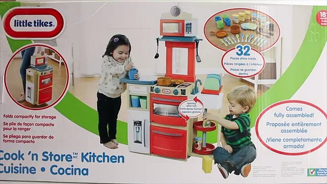 Little Tikes Cook N Store Kitchen and Super Chef Kitchen Playset Toy Review!