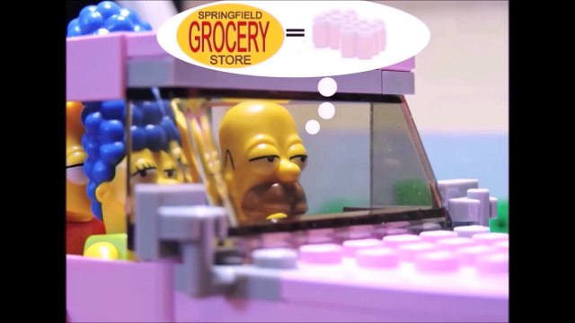 Simpsons at shopping Lego Simpsons animation