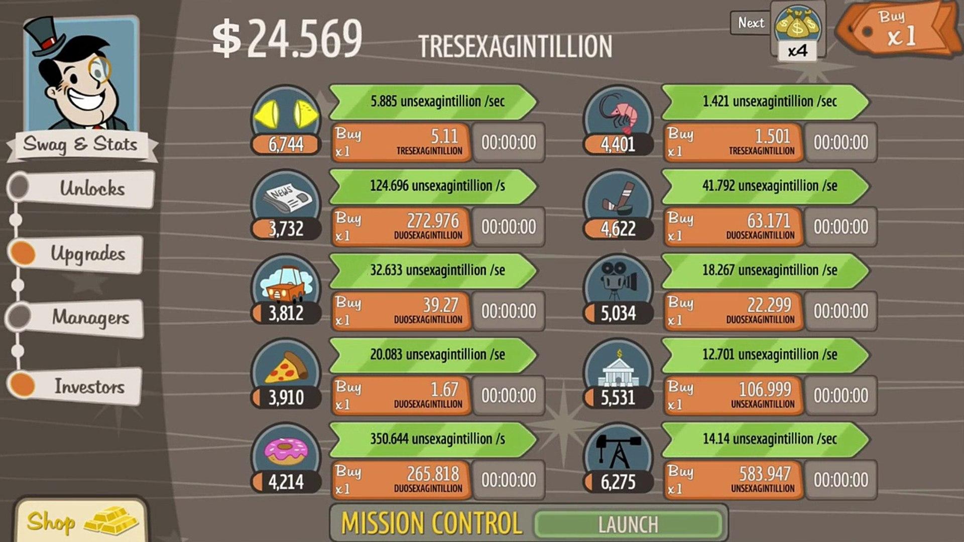 AdVenture Capitalist UPDATE - Cheatin Ol 1.1.2 - AdVenture Capitalist Walkthrough Gameplay