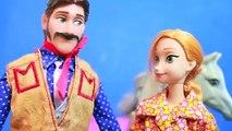 FROZEN Goes WEST Elsa, Anna, Play Doh Cowboys Hans Sheriff Kristoff, Olaf SILENT Film Disn