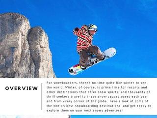The World's Best Snowboarding Destinations