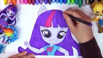 MLP My Little Pony Equestria Girls Minis Speed-Color! Twilight Sparkle, AppleJack MLP Coloring Art