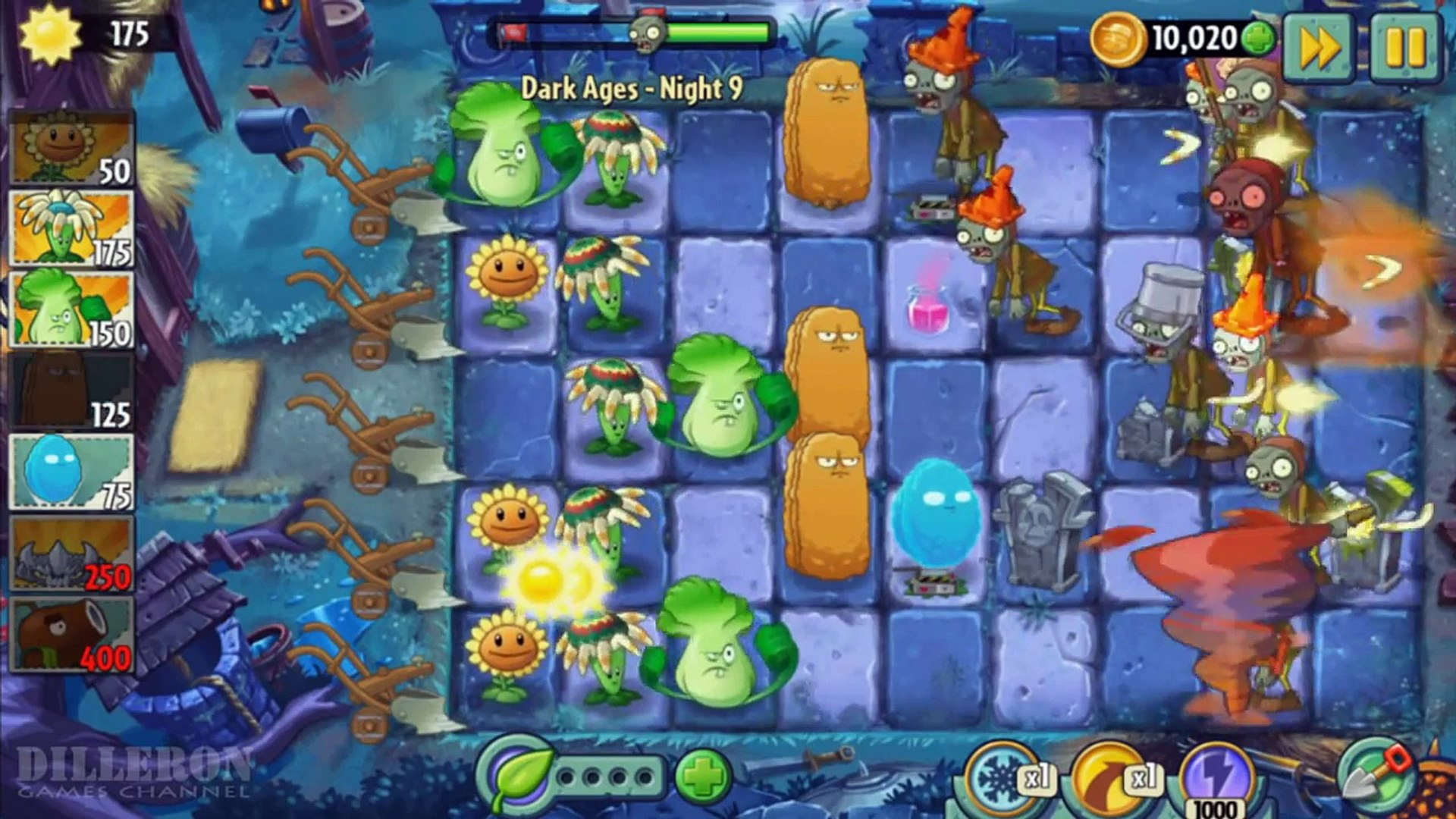 ч.122 Plants vs. Zombies 2 - Dark Ages - Day 9