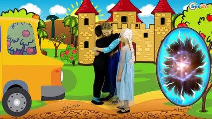 Kids Superheroes Frozen Elsa & Spiderman in Real Life - Finger Family Song | Nursery Rhymes