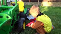 BAD BABY ride on POWER WHEEL Tractor wheel fell off CHANGING WHEEL PAW Patrol Crazy SuperHeroes IRL