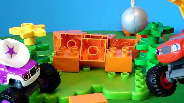 BLAZE AND THE MONSTER MACHINES Nickelodeon Wrecking Ball Blaze vs Brickety Walls Toys Video Parody