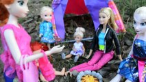 Anna And Elsa Toddlers Camping! Part 1 - Get Lost In The Woods! - toddler anna and elsa