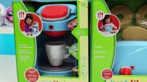 PLAY DOH Pretend Cooking Just Like Home Toaster and Coffee Maker Play Dough Toast Bagel Hot Coco!