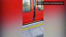 Les restes d'une bombe dans le métro de Londres