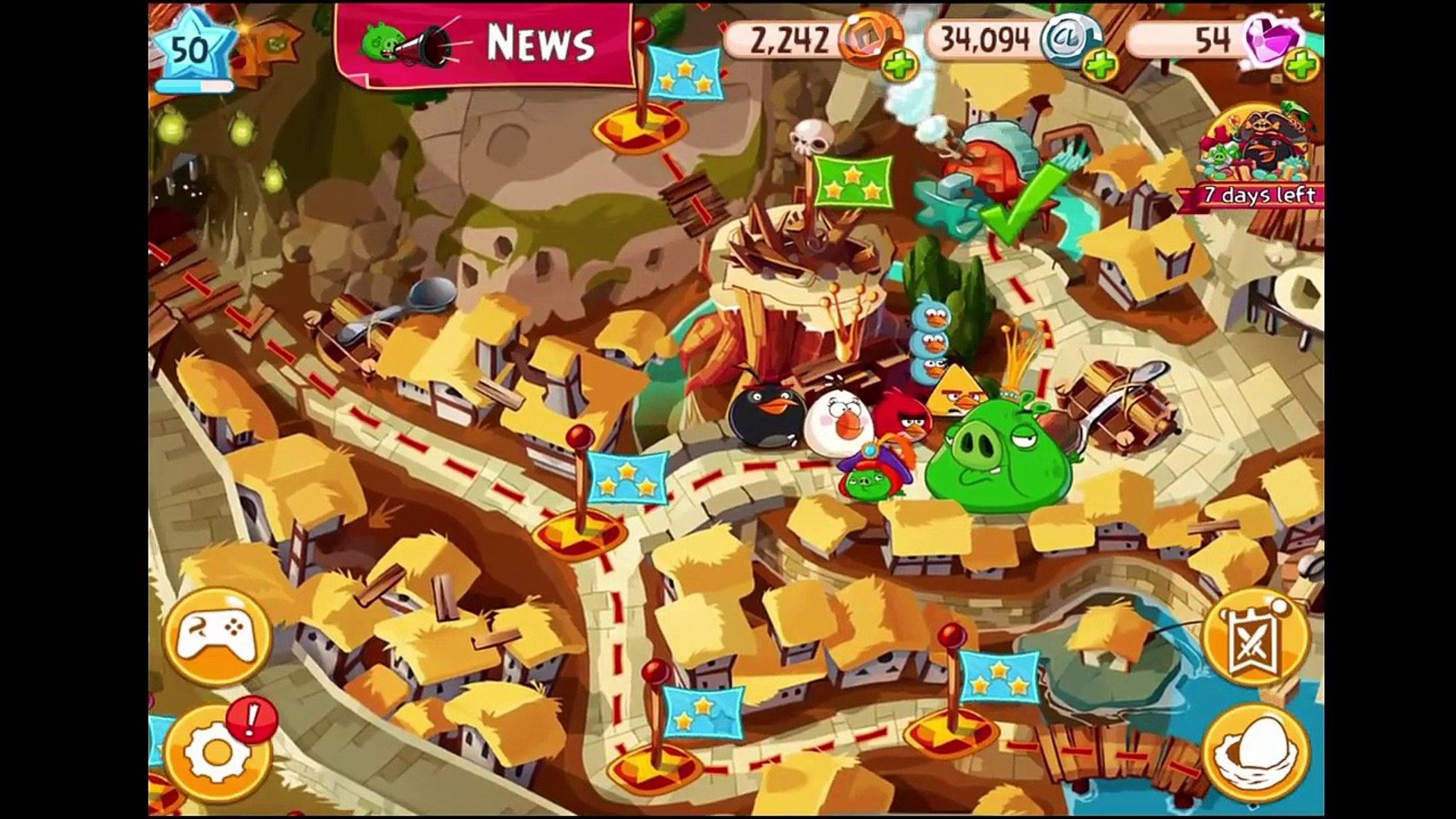 Angry Birds Epic: New Helms! Red, Chuck, & Bomb Vs. King Pigs Territory Gameplay