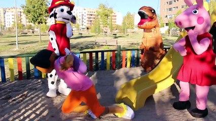 DORA LA EXPLORADORA,PEPPA PIG, PATRULLA CANINA - ataque de T-REX