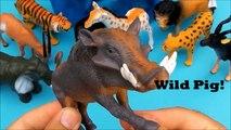 Wild Animals Box Toys. Safari Toy. Zoo Animals. Tiger, Lion, Cheetah, Elephant