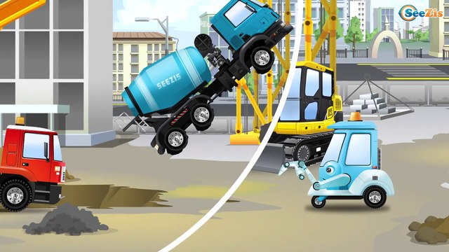 New Cement Mixer Truck - Car Construction - Giant Trucks For Children Bip Bip Cars TV