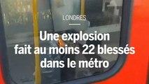 Métro de Londres : un engin explosif artisanal fait au moins 22 blessés