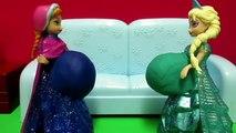 Et défi Anna et la Reine des Neiges / / Disney Docteur La Peluche / Anna et Elsa de défi alimentaire taille beignet / anna elsa beignets