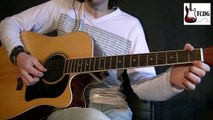 Como tocar Mario Bros en guitarra acústica fácil para principiantes! Mario Freiria Tutorial 1/4 TCDG