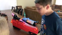 Nerf Trick Shot Battle! Ultimate Challenge! Who Is Better with the Nerf Rival Blasters?